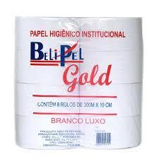 PAPEL HIGIÊNICO GOLD LUXO 300 MTS C/08 ROLOS